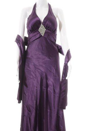 Lautinel Paris Abendkleid lila-silberfarben Party-Look