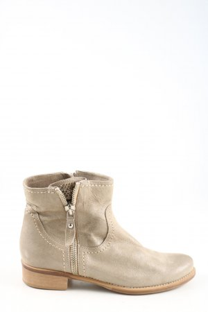Lav. Artigiana Stivale a gamba corta bianco sporco stile casual