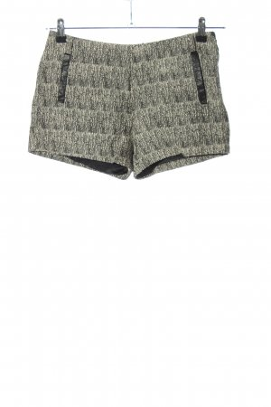 Lavand High-Waist-Shorts hellgrau meliert Casual-Look