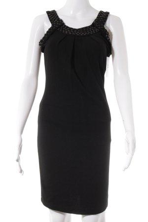 Lavand Vestido a media pierna negro elegante