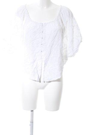 Lavand Blusa taglie forti bianco modello misto stile casual