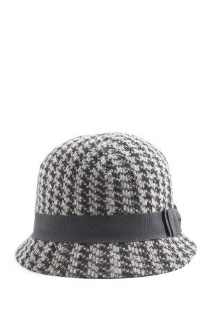 Lavand Stoffmütze weiß-schwarz abstraktes Muster Casual-Look