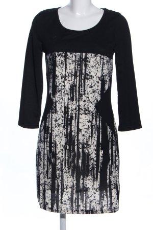 Lavand Strickkleid schwarz-weiß abstraktes Muster Business-Look