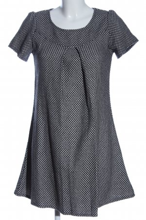 Lavand Strickkleid schwarz-weiß Allover-Druck Casual-Look