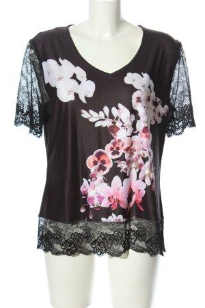 Lavelle Spitzenbluse schwarz-pink Casual-Look
