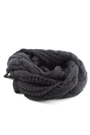 Lavelle Gebreide sjaal zwart kabel steek casual uitstraling
