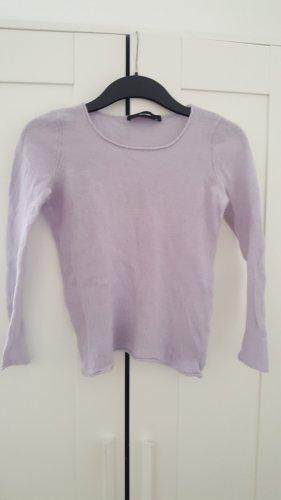 Hallhuber Sudadera de cachemir púrpura