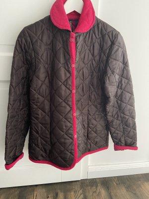 Lavenham Quilted Jacket dark brown-magenta