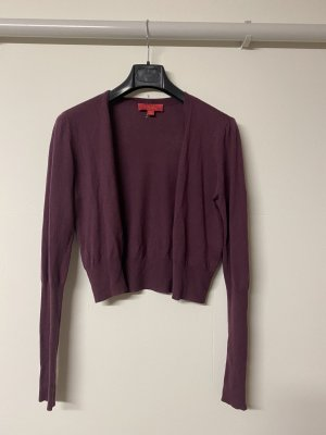 LAVIA Knitted Bolero brown violet