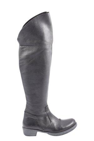 lavoarzione artigianale Buty nad kolano czarny W stylu casual