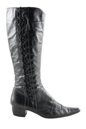 Lavorazione Artigiana Absatz Stiefel schwarz Casual-Look