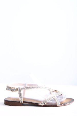 Lavorazione Artigiana Toe-Post sandals silver-colored casual look