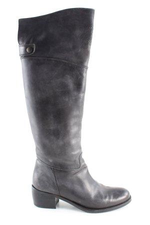 Lavorazione Artigiana Stivale militare grigio chiaro Colore sfumato