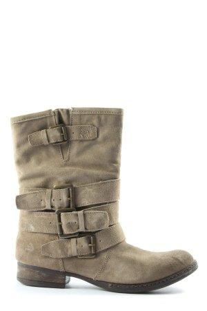 Lavorazione Artigiana Wciągane buty za kostkę kremowy W stylu casual
