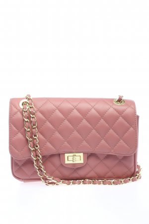 Lavorazione Schultertasche pink Steppmuster Casual-Look