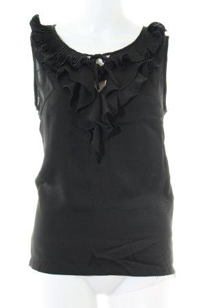 Lawrence Grey ärmellose Bluse schwarz Elegant