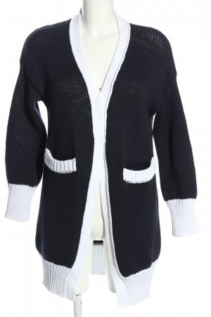 Lawrence Grey Coarse Knitted Jacket blue-white casual look