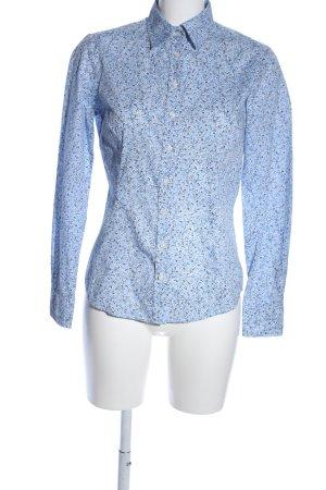 Lawrence Grey Hemd-Bluse blau-schwarz Blumenmuster Casual-Look