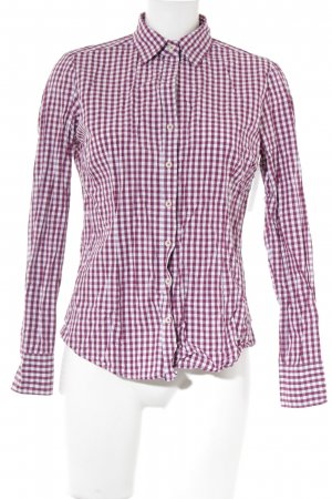 Lawrence Grey Hemd-Bluse weiß-purpur Karomuster Business-Look