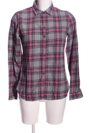Lawrence Grey Holzfällerhemd hellgrau-pink Karomuster Casual-Look