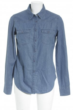 Lawrence Grey Jeanshemd kornblumenblau Jeans-Optik