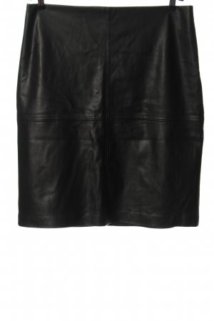 Lawrence Grey Faux Leather Skirt black casual look