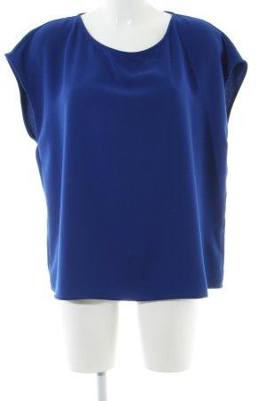 Lawrence Grey Kurzarm-Bluse blau Business-Look