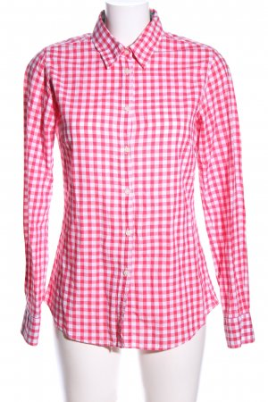 Lawrence Grey Langarmhemd pink-weiß Allover-Druck Casual-Look