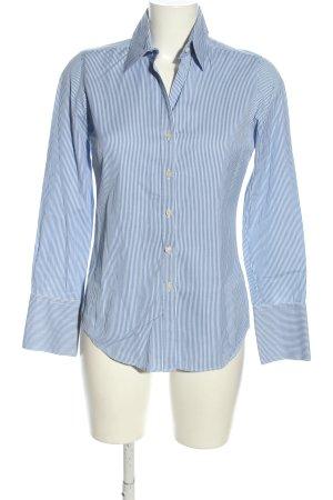 Lawrence Grey Langarmhemd blau-weiß Allover-Druck Business-Look