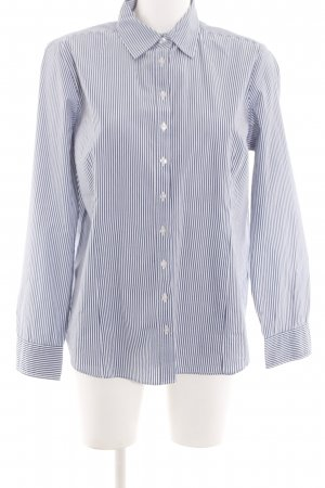 Lawrence Grey Langarmhemd blau-weiß Streifenmuster Business-Look