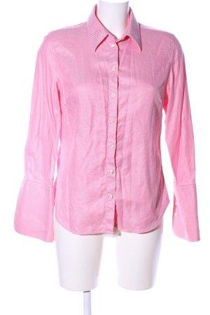 Lawrence Grey Langarmhemd pink-weiß Webmuster Casual-Look