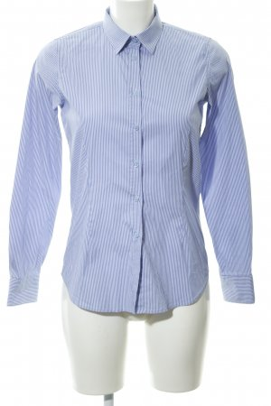 Lawrence Grey Langarmhemd stahlblau-weiß Streifenmuster Business-Look