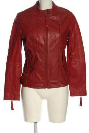 Lawrence Grey Lederjacke rot Casual-Look