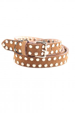 Lawrence Grey Studded riem bruin-zilver casual uitstraling