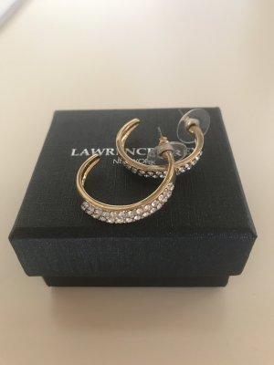 Lawrence Grey Créoles doré-argenté métal