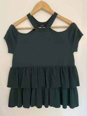 Lawrence Grey Top peplum verde bosque