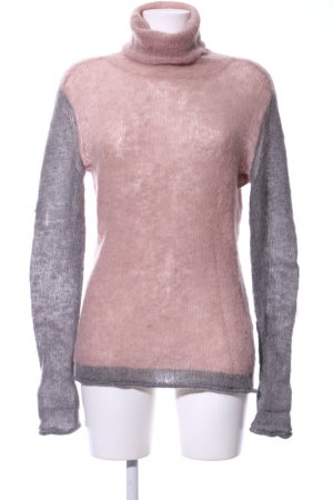 Lawrence Grey Rollkragenpullover pink-hellgrau Business-Look
