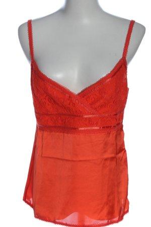 Lawrence Grey Top con bretelline rosso stile casual