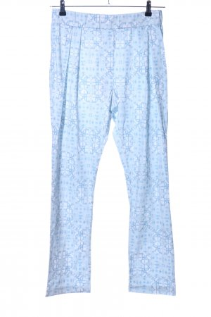 Lawrence Grey Stoffhose blau abstraktes Muster Casual-Look
