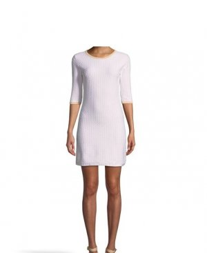 Lawrence Grey Knitted Dress white cotton