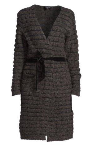 Lawrence Grey Manteau en tricot noir