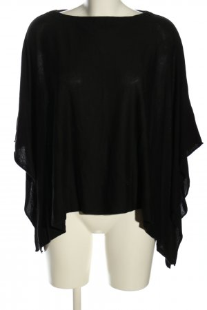 Lawrence Grey Knitted Poncho black business style