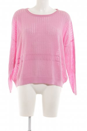 Lawrence Grey Wollpullover pink Zopfmuster Casual-Look