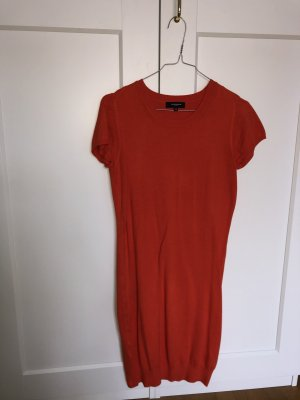 Lawrence stretch Enges Baumwoll Kleid rot orange figurbetont