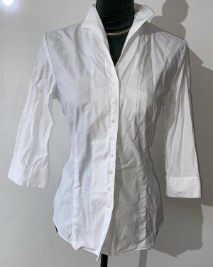 Lawrence Grey Blouse à col montant blanc coton