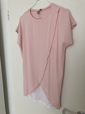COS T-shirt blanc-rose clair
