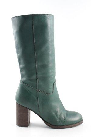 Lazamani Absatz Stiefel grün Business-Look