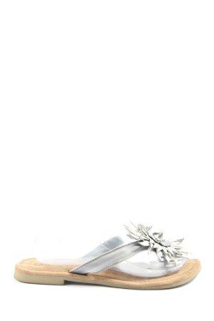 Lazamani Dianette sandalen lichtgrijs casual uitstraling