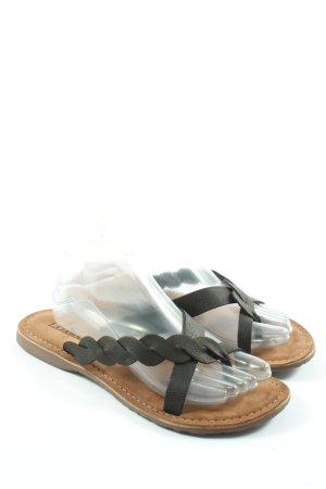 Lazamani Flip Flop Sandalen schwarz Casual-Look