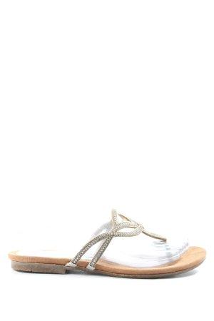 Lazamani Flip Flop Sandalen braun-silberfarben Casual-Look